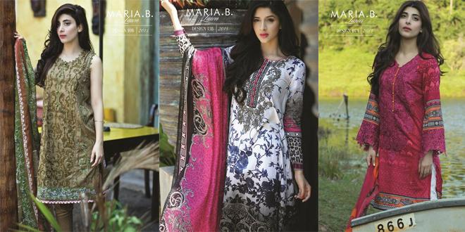 Maria b ladies kurta designs 2015